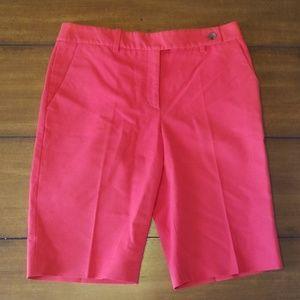 Red Michael Kors Bermuda shorts